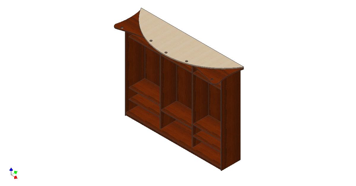 Шкаф купе Комбинация крыша