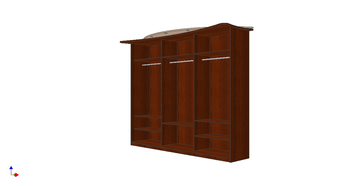 Проект шкафа купе комбинация панорама без дверей