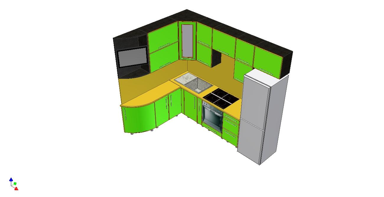 Проект кухни Ирина вид 2