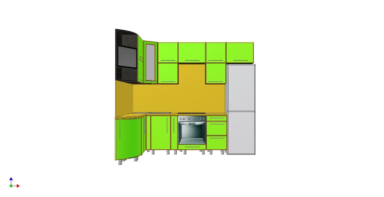Проект кухни Ирина вид 3