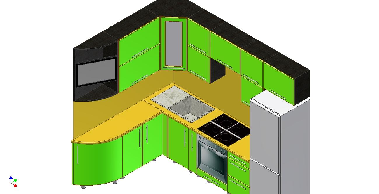 Проект кухни Ирина вид 5