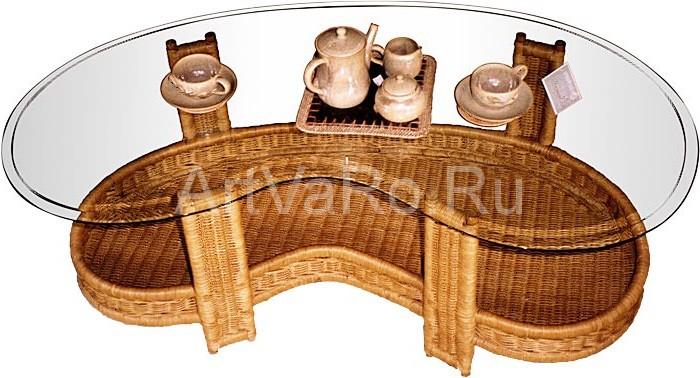 pletenka Кофейный столик в интерьере