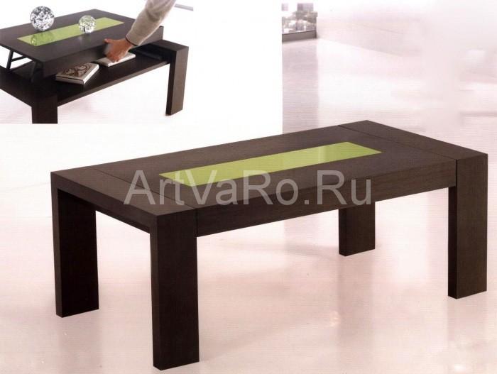 s nizkim Кофейный столик в интерьере