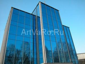 стелянные офисны здания