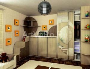 шкафкупе в маленькой комнате 300x232 Интерьер комнаты, площадью 9 квадратных метров