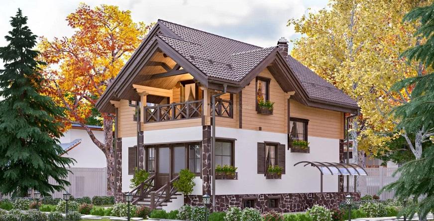 комбинированный дом фото