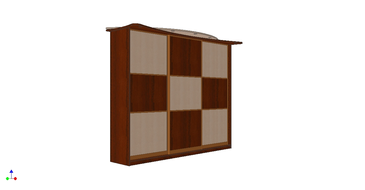 Проетк шкафа купе комбинация вид 6